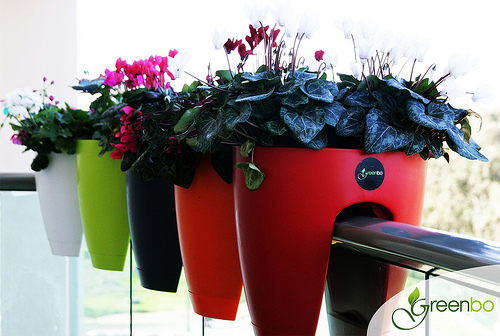 greenbo1 Greenbo Rail Mounted Planters