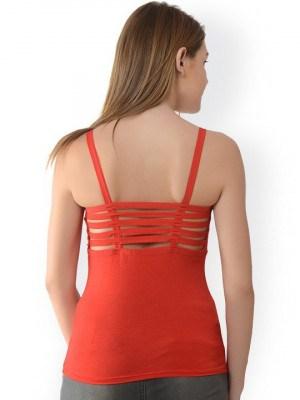 %six strap red camisole cum top