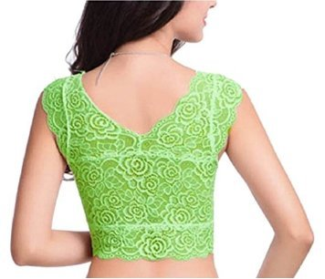 %green crop top cum blouse