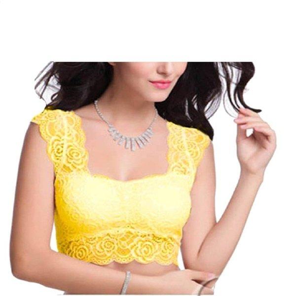 %yellow crop top cum blouse