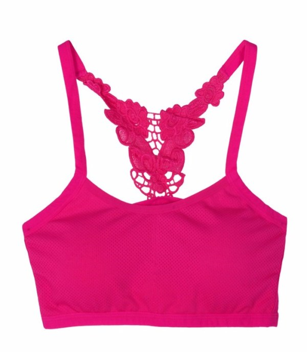 %butterfly caged pink bra