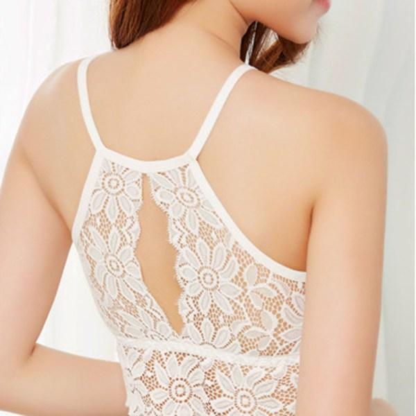 %white halter neck bra crop top