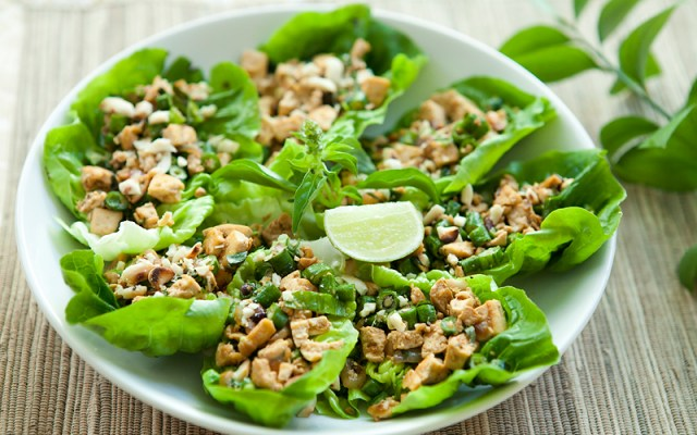 Thai Tofu Larb. Vegan recipe.