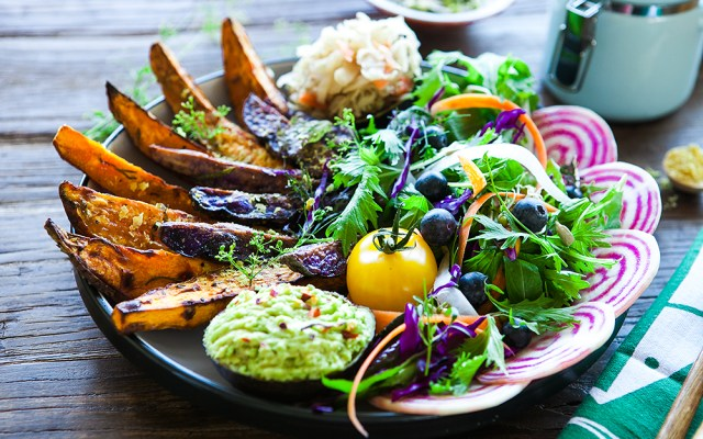 Roasted Kumara Nourish Bowl. Vegan and Gluten Free Recipe.