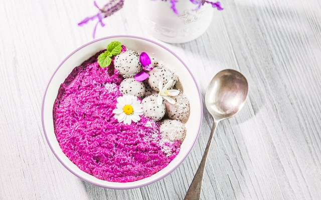 Pitaya Chia Porridge. Vegan, GF Recipe