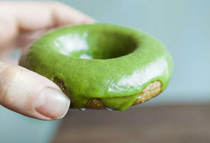 Matcha Doughnuts. Gluten-free and Dairy-free Recipe.