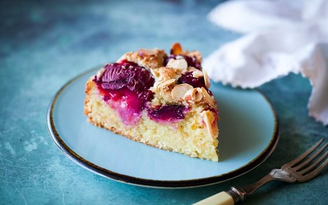 Italian Plum Almond Cake. Dairy-free recipe.