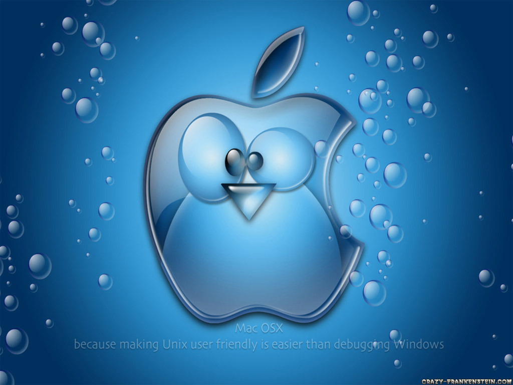 Wallpaper: Blue Apple Linux Resolution: 1024x768 | 1280x960