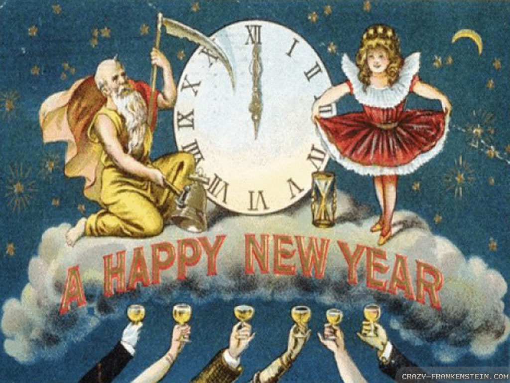 vintage new year backgrounds