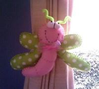 Украшение держатель штор — смешная бабочка