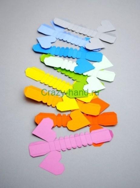 оригами сердечки