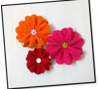 Бархатные цветы своими руками