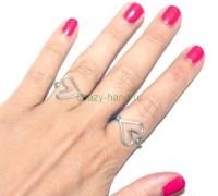 Как сделать кольцо в виде сердечка своими руками