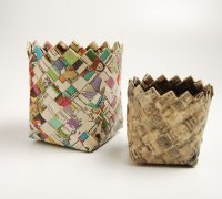 Плетение корзины из бумаги мастер-класс