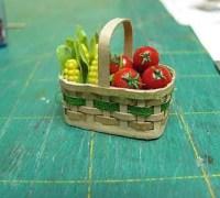 Как сделать миниатюрную корзиночку из бумаги