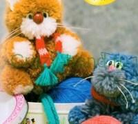 Мастер-класс: Кот из помпонов