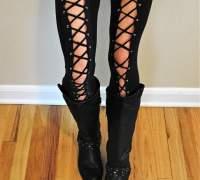 Леггинсы со шнуровкой из спортивных брюк