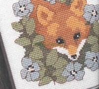 Лисичка в цветочках