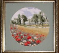 Вышиваем картину «Маковая поляна» своими руками