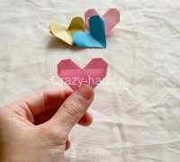 Мастер-класс: оригами сердечко