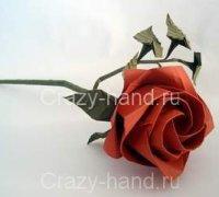 Делаем красивую розу из бумаги