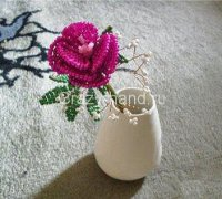Цветок из бисера своими руками