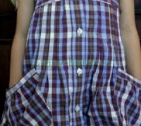 Детский сарафан из рубашки своими руками