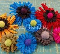 Мастер-класс: делаем цветочек из войлока и шерсти