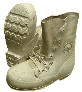 U.S. G.I. Extreme Cold Weather Boots, White, Used/Weathered