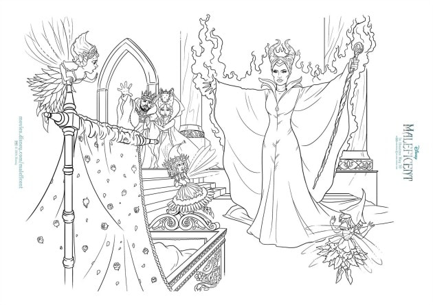 maleficent activity sheets and coloring pages