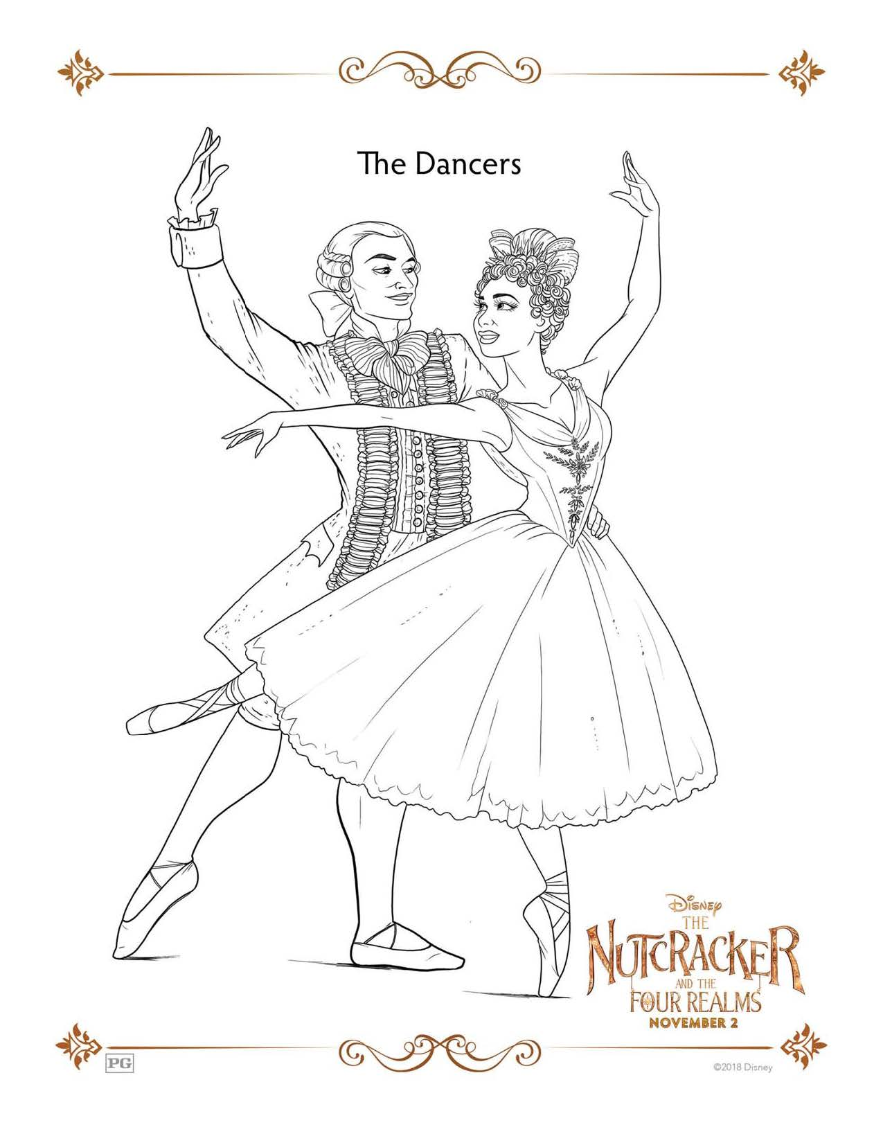 The Nutcracker And The Four Realms Coloring Pages And