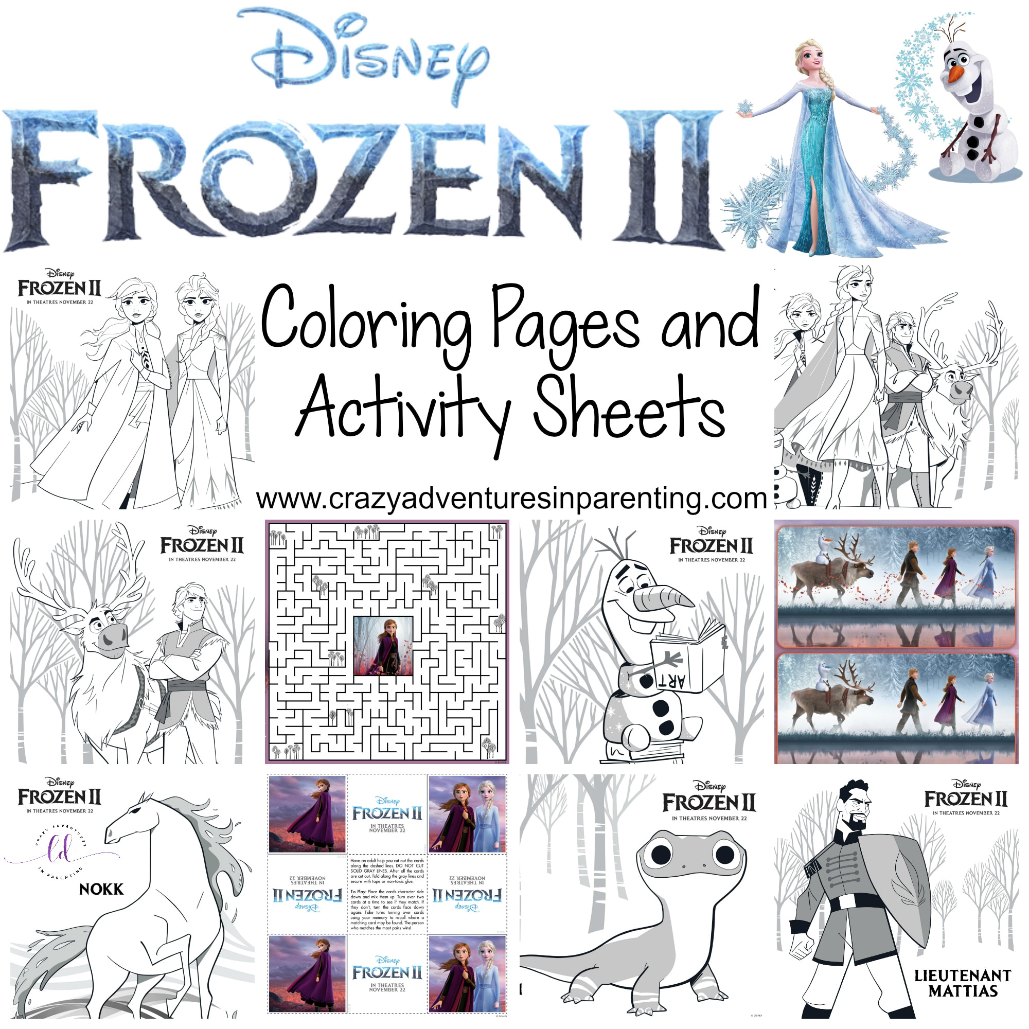 Free Printable Frozen 2 Coloring Pages And Activity Sheets