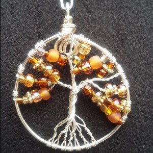 tree of life pendant with autumn colors