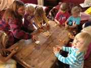Busy decorating Gingerbread Men
