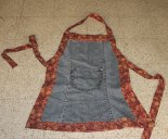 apron from used jeans