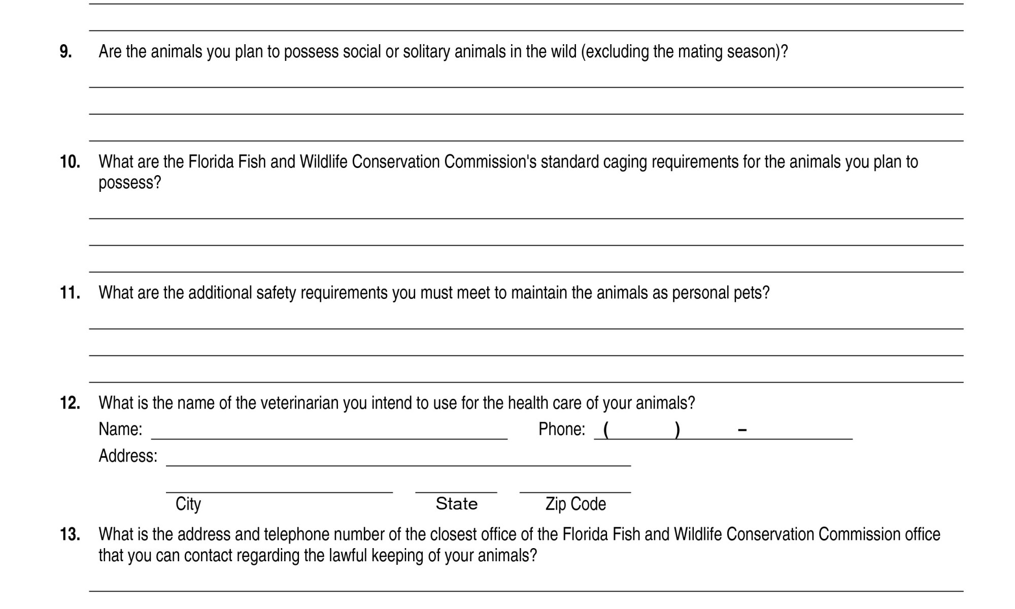Help With FWC Class III Personal Use Permit