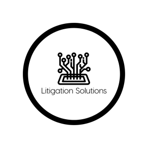Litigation Solutions black and white logo