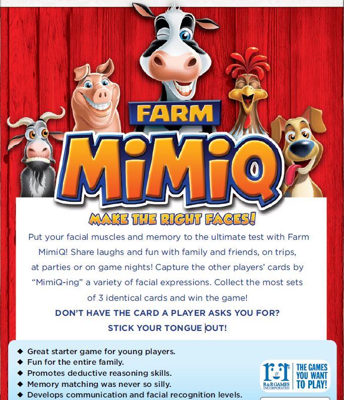 Mimiq farm animal faces card game
