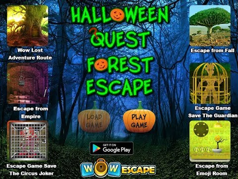 wowescape halloween quest forest escape walkthrough 2017 crzy
