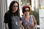 Sharon Osbourne and Ozzy Osbourne Leaving a Nail Salon