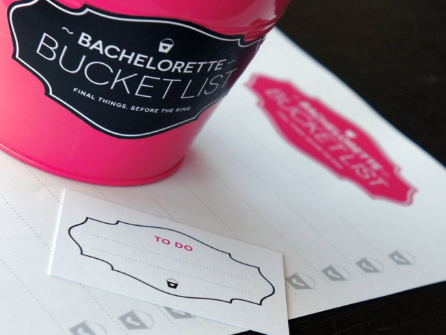 bachelorette party bucket list