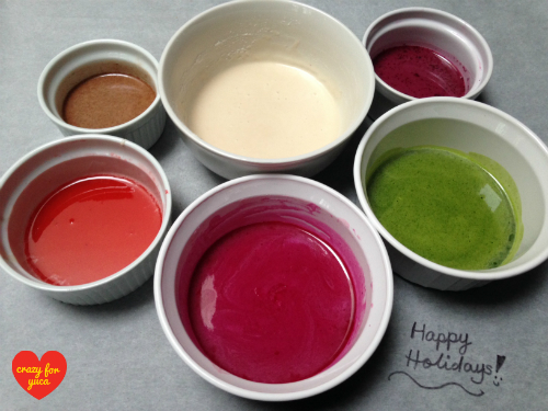 Icing Colored with Fruits and Vegetables – Crazy For Yuca