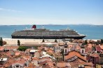 Cruise ship on the Tagus - View from the Castelo de Sao Jorge