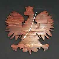 Butcher Block Polish Falcon Clock