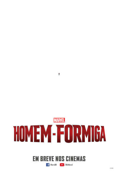 o teaser poster de HOMEM-FORMIGA, da Marvel.