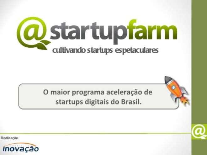 O apoio do Sebrae Minas ao Startup Farm integra o projeto Identidade Startup com o objetivo de impulsionar o empreendedorismo no setor, disseminar o conhecimento em gestão, tecnologia e mercador, e divulgar as startups  em todo o estado.