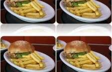 Elaborado com um suculento hambúrguer de linguiça de pernil, o sanduíche é recheado