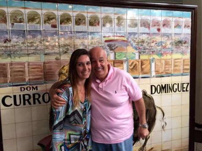 Sabrina com o pai, José Maria Rios terceira geração de uma mesma família (Foto: Arnaldo Lorençato)