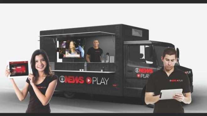 Além de exibir o conteúdo do canal por uma TV, a unidade móvel proporcionará ao público conexão sem fio e gratuita à internet para que todos possam baixar e navegar pelo aplicativo do canal de notícias.