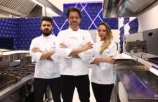o subchefe Zi Saldanha, o Chef Carlos Bertolazi e a subchefe Gilda Maria Bley durante coletiva de imprensa. Crédito: Leonardo Nones/SBT
